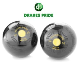 Drakes Pride Standard Density Richmond Bowls Black Yellow Mount