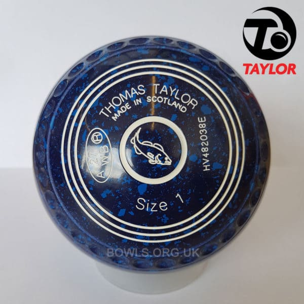 Taylor Ace Progrip Coloured Bowls Dark Blue CatFish Stamp