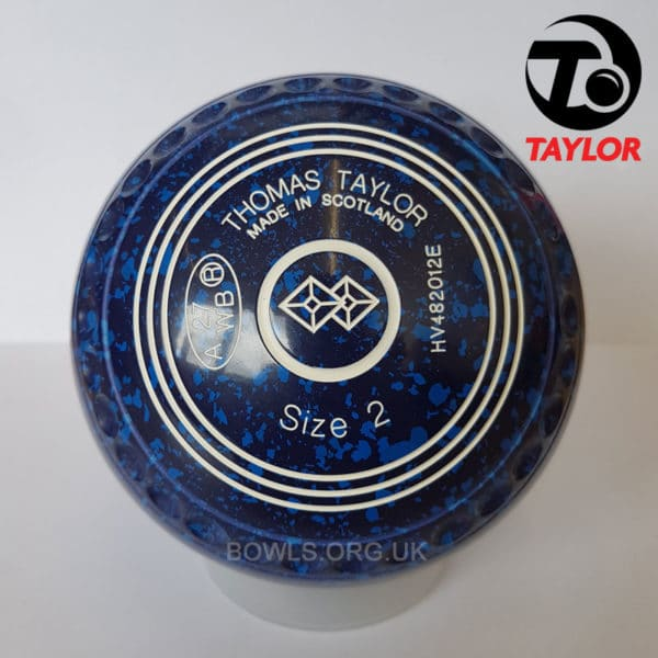Taylor Ace Progrip Coloured Bowls Dark Blue TwoSquare Stamp