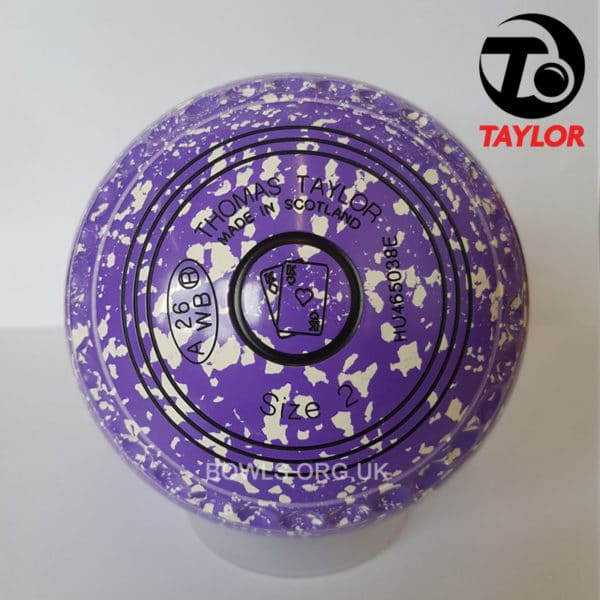 Taylor Ace Progrip Coloured Bowls Purple White Cards Stamp