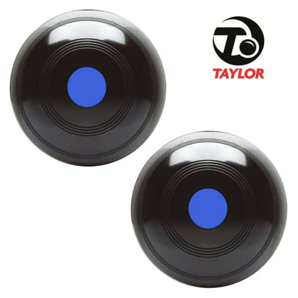 Taylor Elite High Density Bowls Black Blue Mount