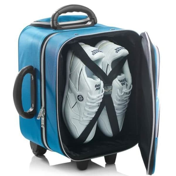 drakes pride bowls locker trolley bag top open