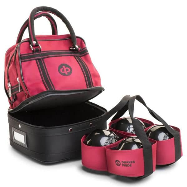 drakes pride mini bowls bag maroon with carrier