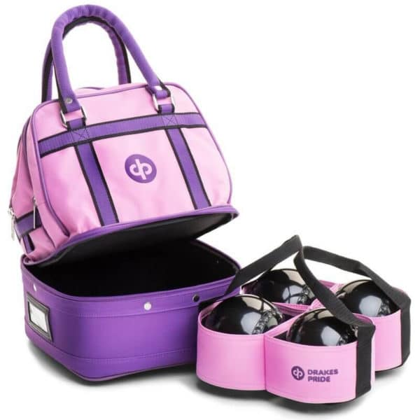 drakes pride mini bowls bag pink with carrier